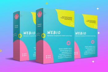 Webio - Template Elementor Untuk Profile Dan Bio Link